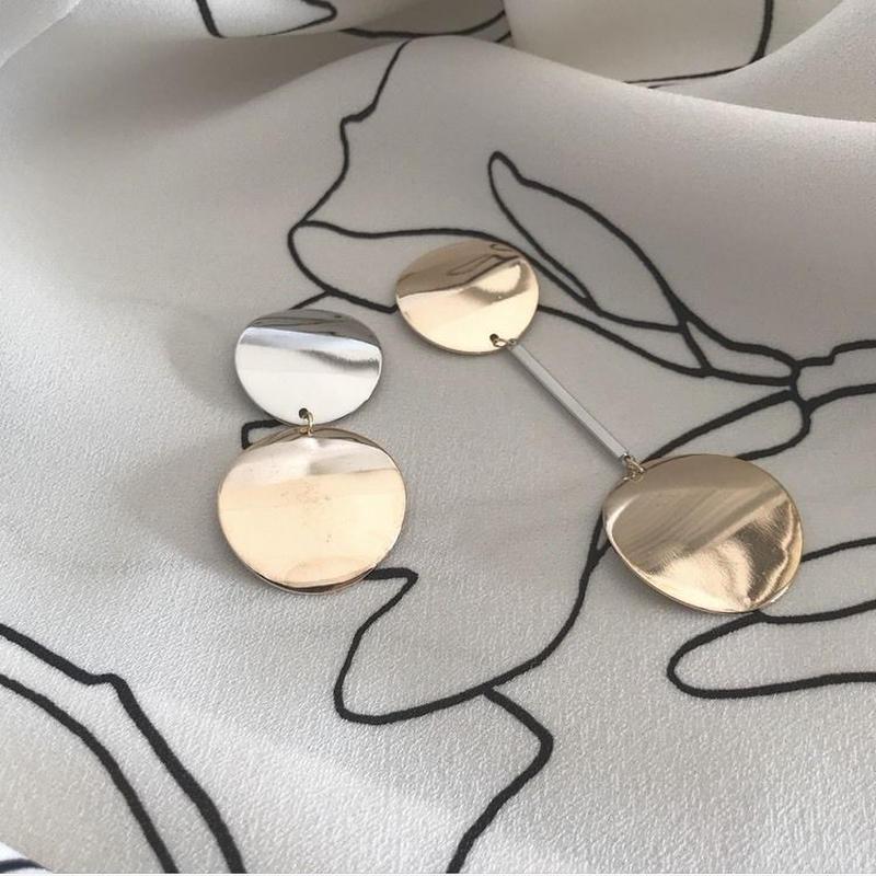 metallic   pierce   earring