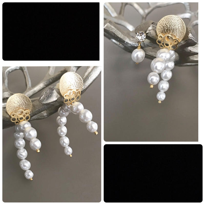 hoop pearl pierce earring