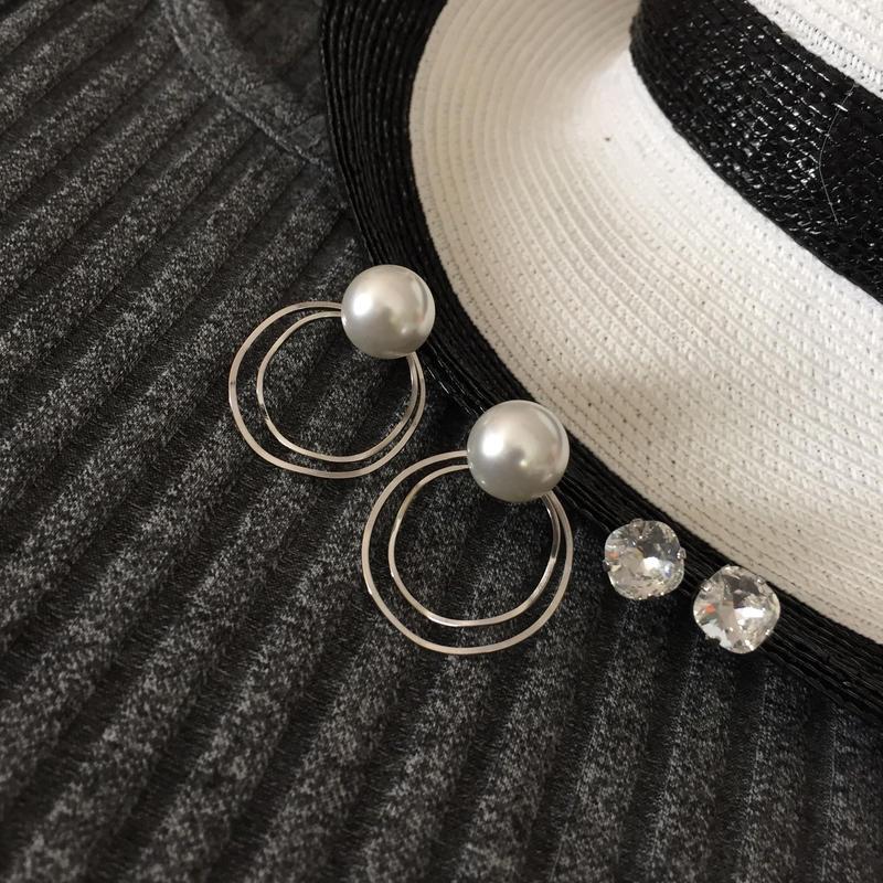 four-way pearl crystal pierce