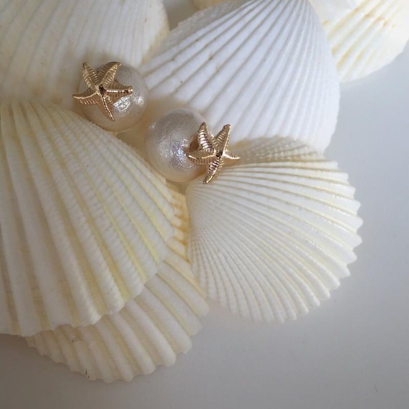 Starfish  cottonpearl pierce