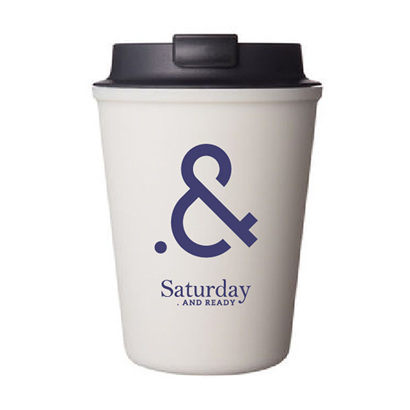 "Saturday . AND READY "".&"" WALLMUG SLEEK Tumbler / WHITE"