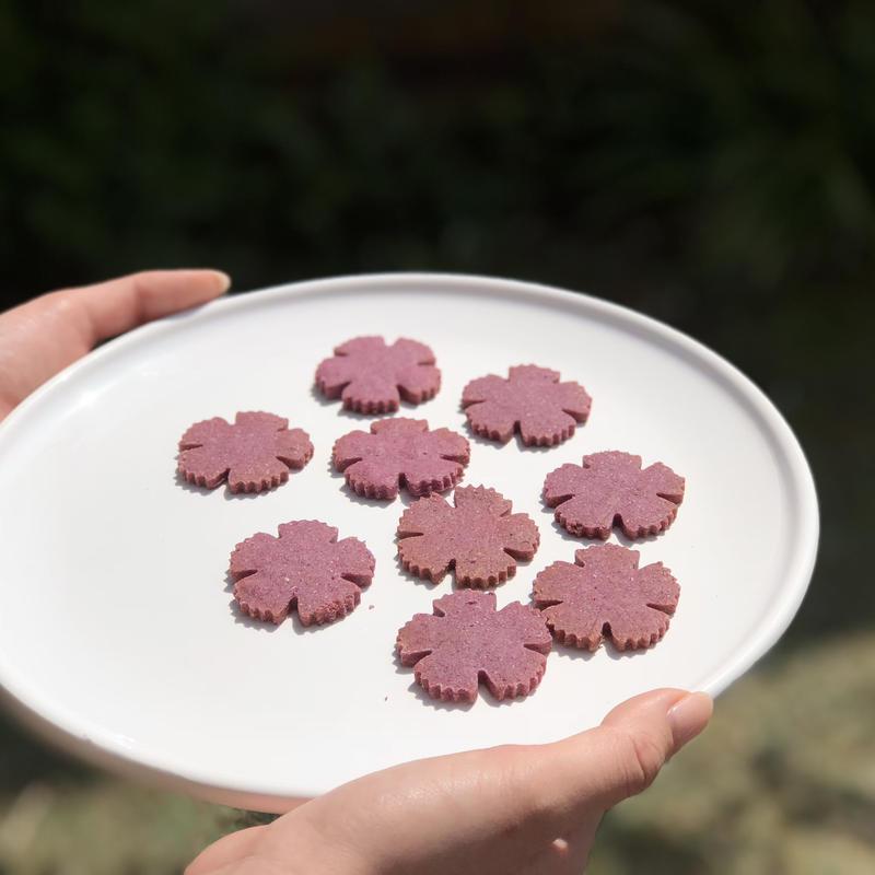 紫芋のフラワークッキーS