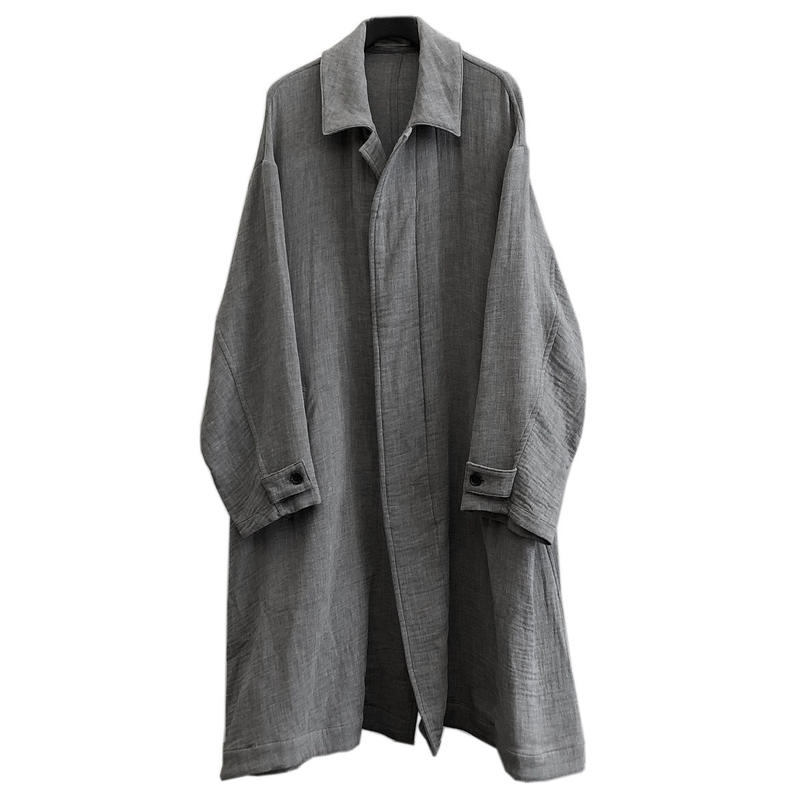 Graphpaper  Gauze Oversized Soutien Collar Coat