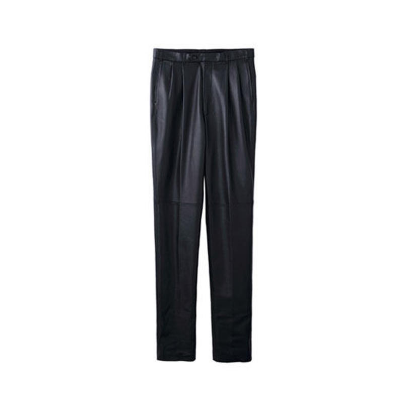"JOHN LAWRENCE SULLIVAN ""LEATHER PLEATED TROUSERS"""