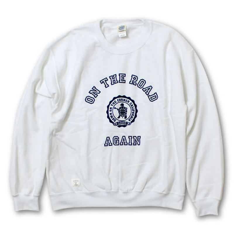 """L/S CREW NECK SWEAT """"ON THE ROAD AGAIN"""" LIMITED EDITION"""