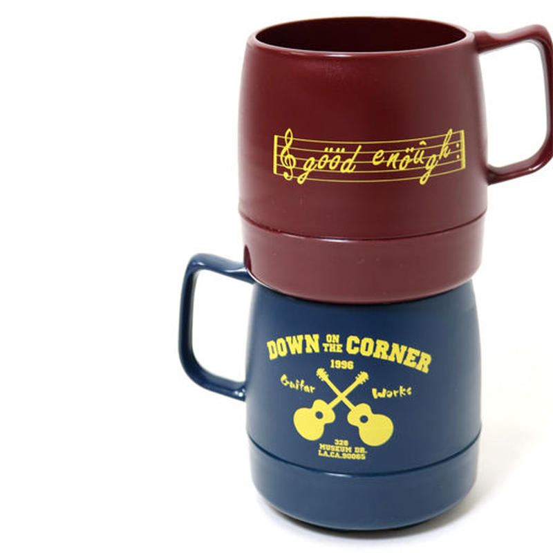 "DOWN ON THE CORNER/GOOD ENOUGH - 8oz MUG CUP ""GUITAR WORKS"""