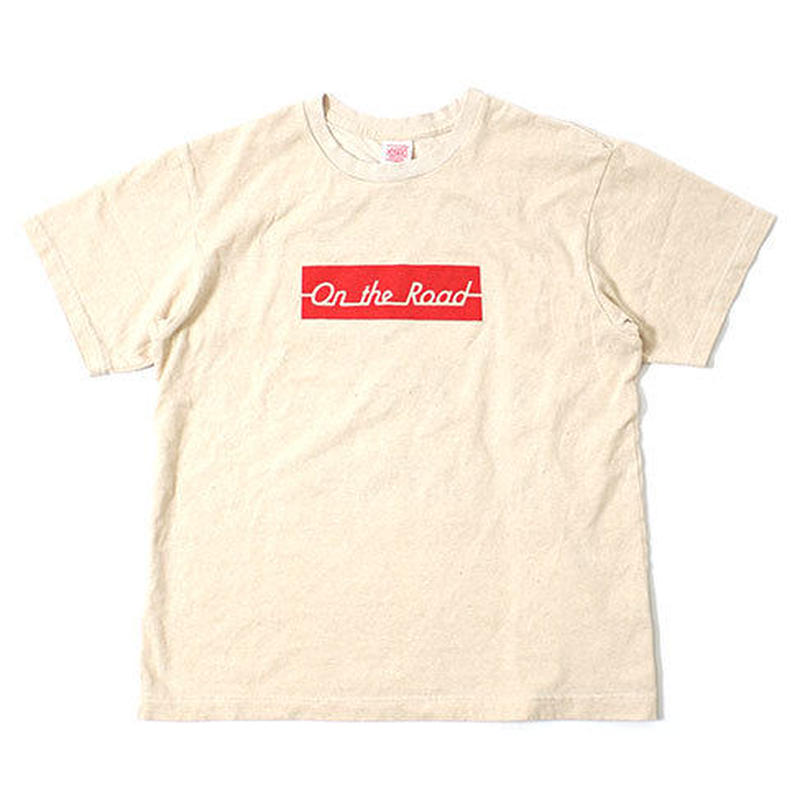 "S/S HEMP COTTON TEE ""ON THE ROAD BOX"""