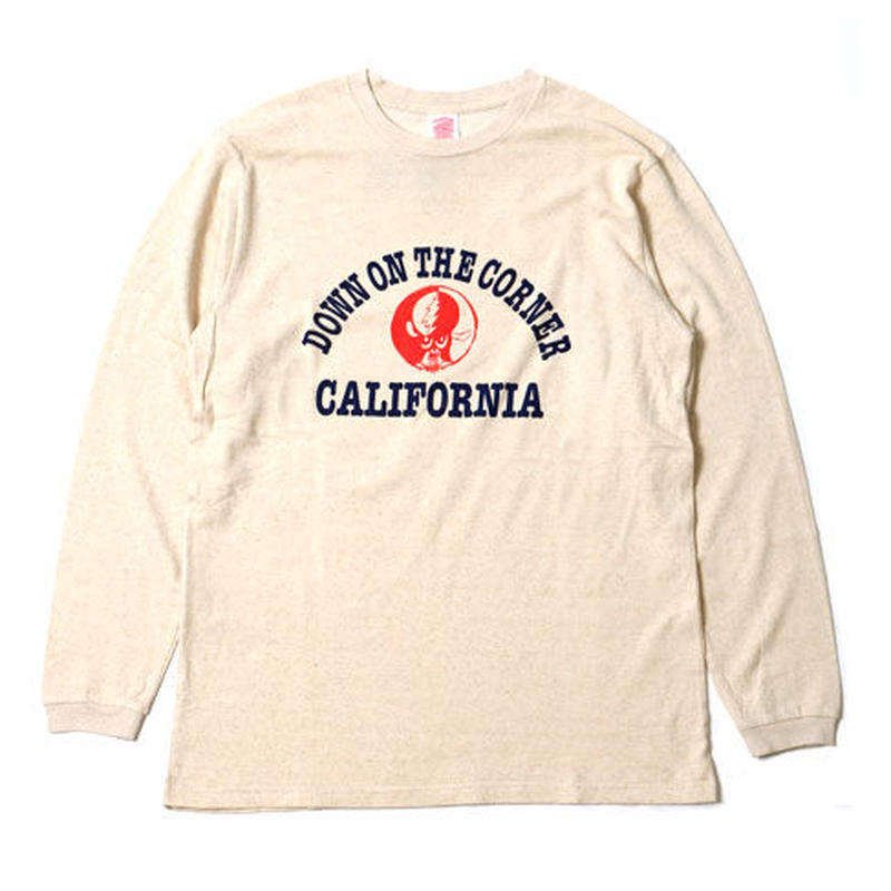 "L/S HEMP COTTON TEE ""CALIFORNIA LOGO W/SKOLOCT"""