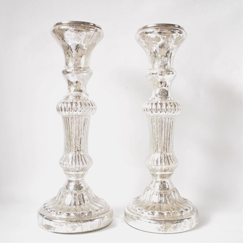 Mercury candle stand  pair