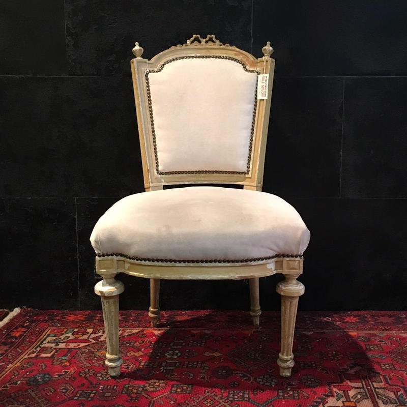 Antique White chair 01