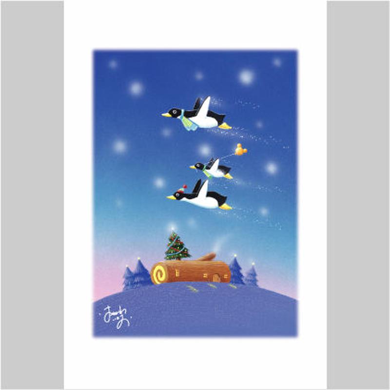 「ペンギンくんの未来の風船」ポストカード