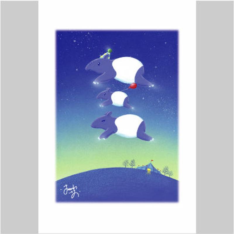 「バクちゃんの勇気の風船」ポストカード
