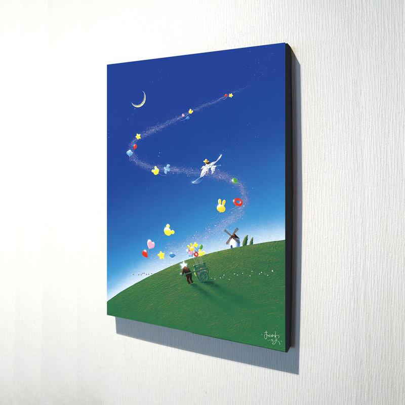 【デジタル版画/B3キャンバス】「夢にのせて」