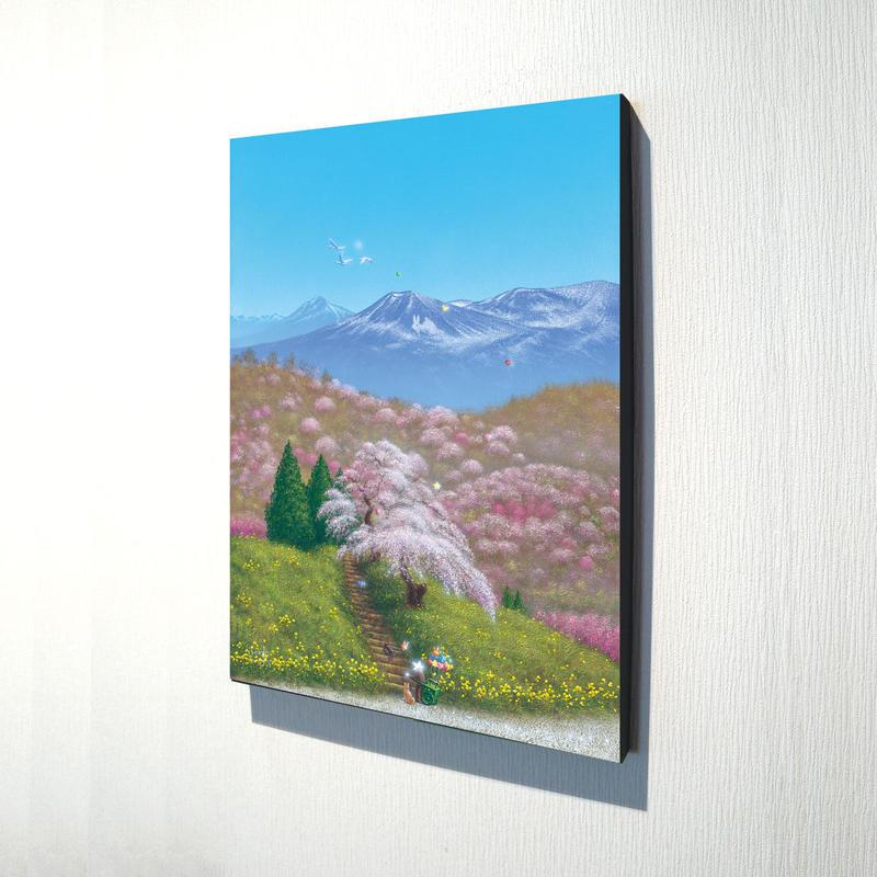 【デジタル版画/B4キャンバス】「福島から春爛漫の贈りもの」