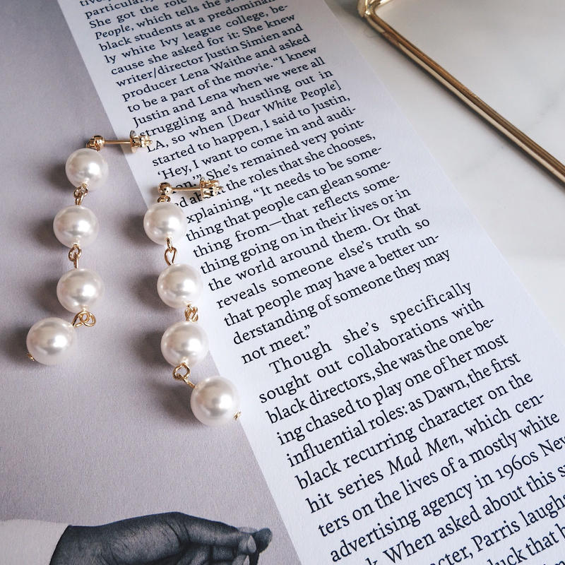 bonbon pearl pierce,earring