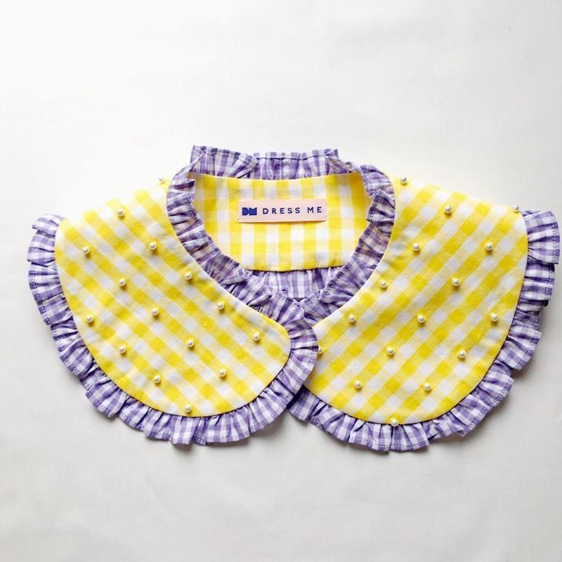 つけ襟 GINGHAM(yellow)