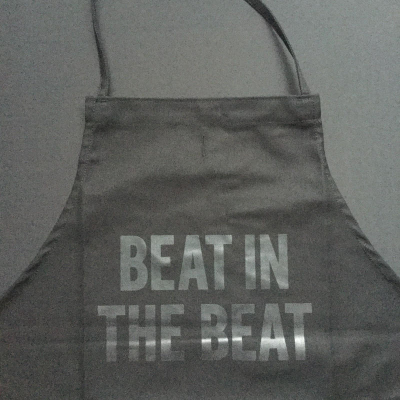 "⭕️[新発売]]DRESSSEN    ADULT APRON  DB(BLK)12""BEAT IN THE BEAT""BLACK COLOR"
