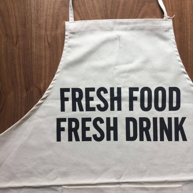 DRESSSEN  ADULT APRON FRESH FOOD FRESH DRINK
