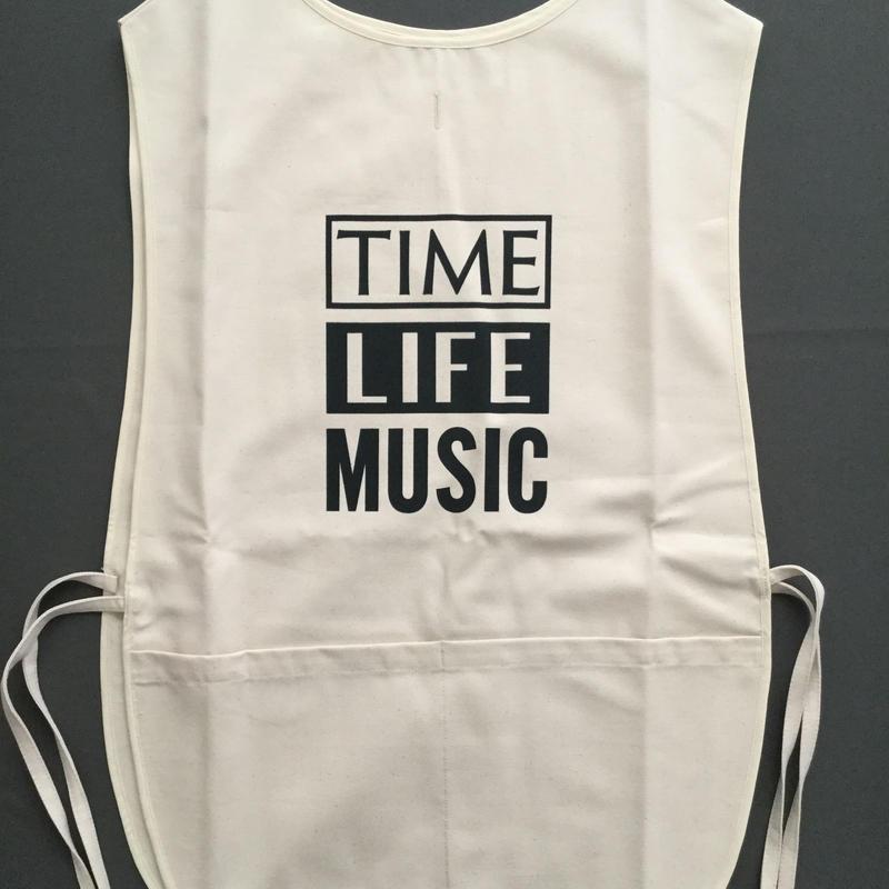 "DRESSSEN  F&B APRON FB4  ""TIME LIFE MUSIC"""