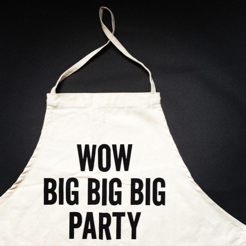 DRESSSEN KD19 KIDS APRON WOW BIG BIGBIG PARTY(※キッズエプロンです)
