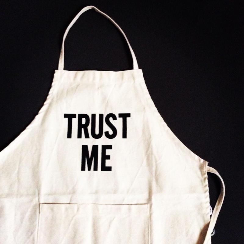 "DRESSSEN ADULT APRON #15 ""TRUST ME"""