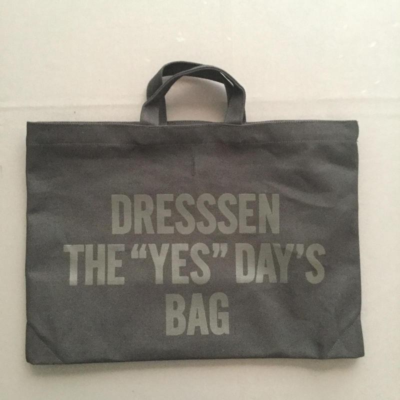 "DRESSSEN DTBCB1 DRESSSEN THE ""YES""DAY'S BAG※次回入荷未定です。よろしくお願い申し上げます。⭕️再入荷しました!よろしくお願い申し上げます。"