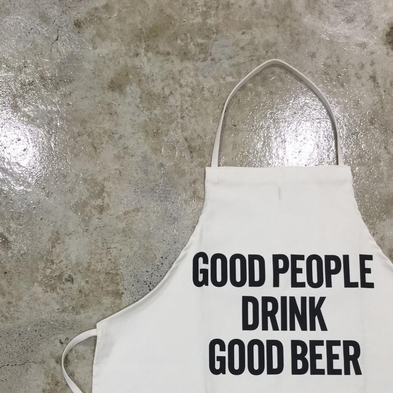 """DRESSSEN ADULT APRON  #4 """"GOOD PEOPLE DRINK GOOD  BEER🔴2018年9月25日再入荷しました。よろしくお願い申し上げます。"""