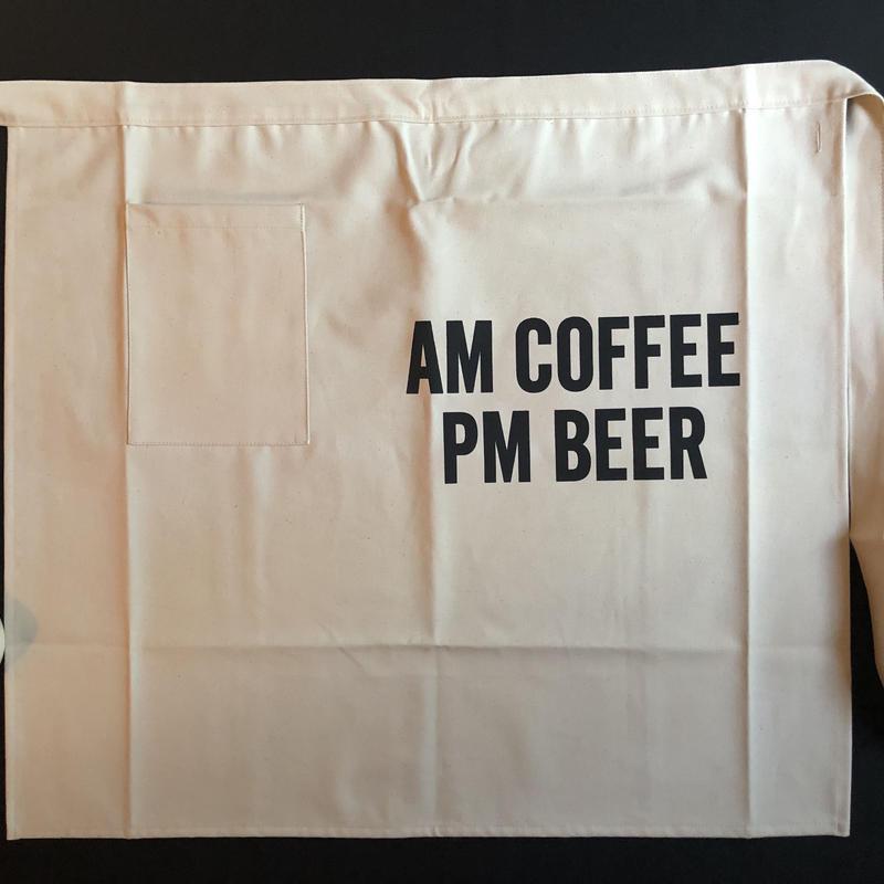"""🔴 新発売  DRESSSEN LWL12 lower wall long  LWL """"AM COFFEE PM BEER""""    (腰巻きエプロンです) 2019年4月新発売です"""
