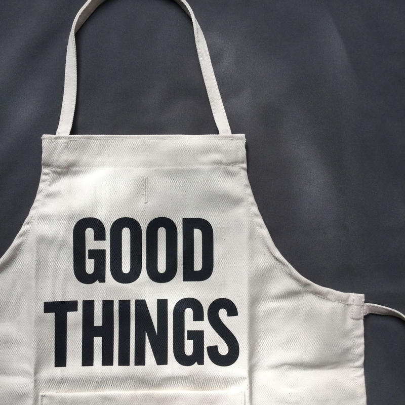 "DRESSSEN BKD BABY KIDS APRON  ""GOOD THINGS""(ベイビーキッズエプロンです。)"