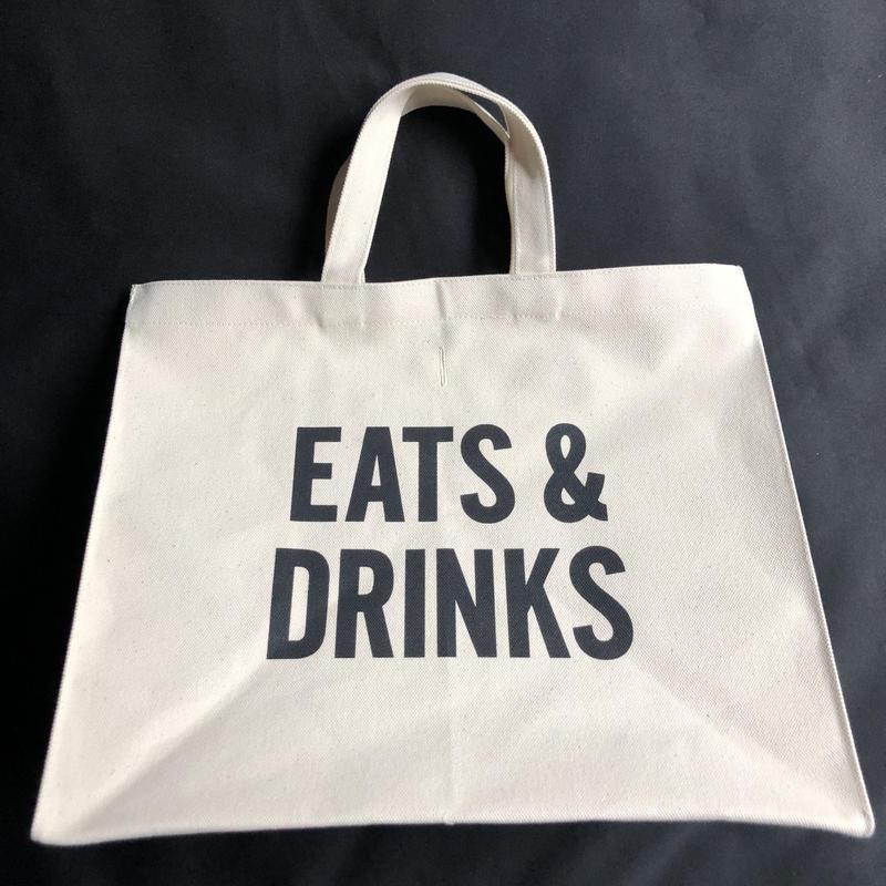 """🔴新発売  DRESSSEN  MARKET BAG (LARGE)  MBAL3  """"EATS  & DRINKS ※こちらのデザインは公式オンラインストアのみの販売となります。"""