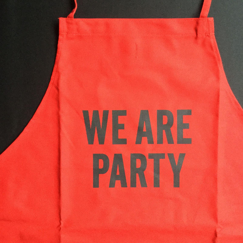 "DRESSSEN DR(RED) 9""WE ARE PARTY"""" APRON  RED COLOR"