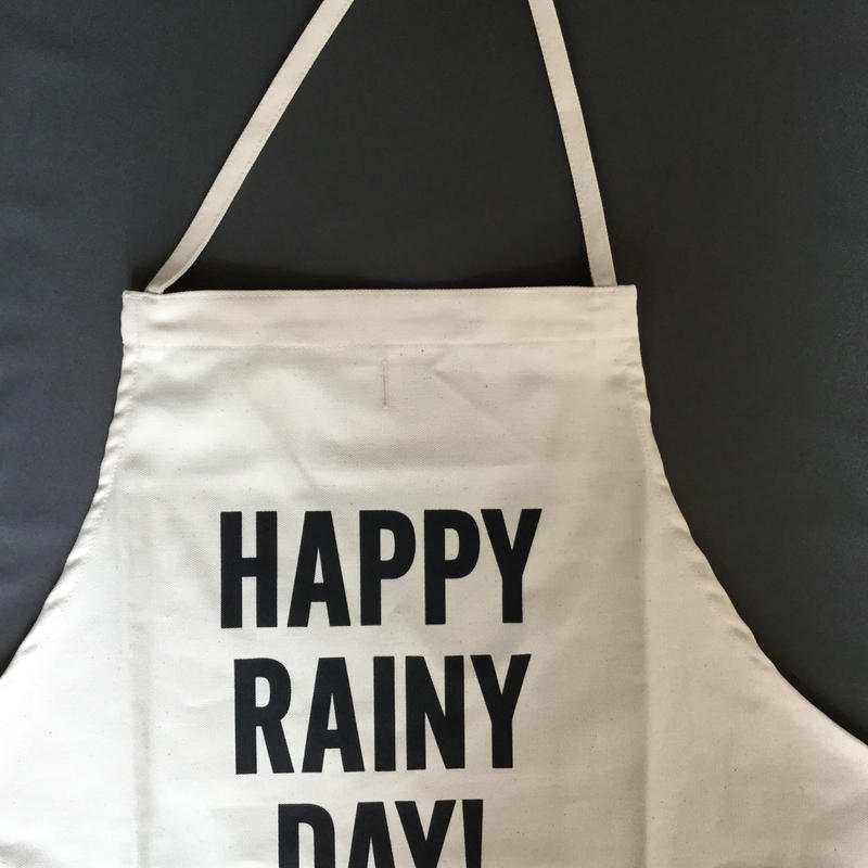 DRESSSEN ADULT APRON #55 HAPPY! RAINY DAY!