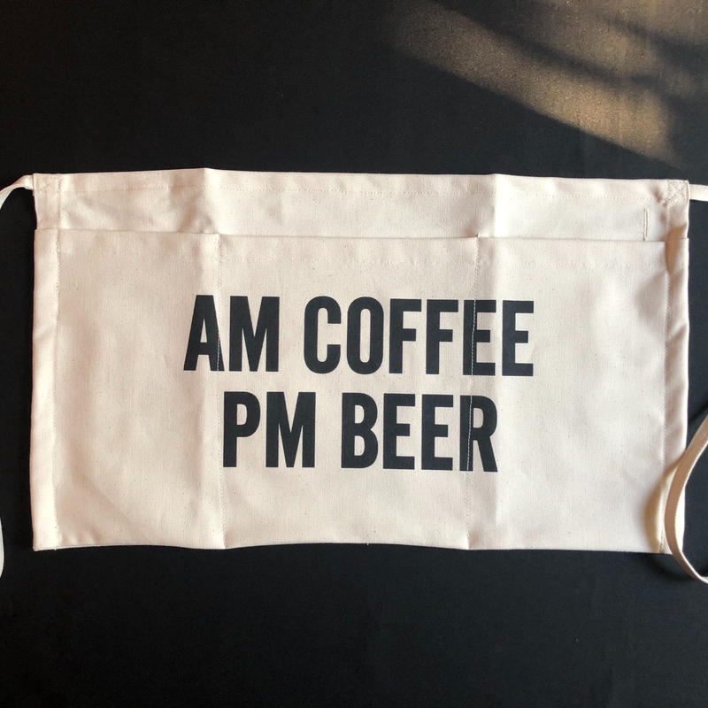 "⭕️[新発売] DRESSSEN  LW23  LOWER WALL APRON  ""AM COFFEE PM BEER""  (腰巻きエプロンです)2019年4月新発売です。"
