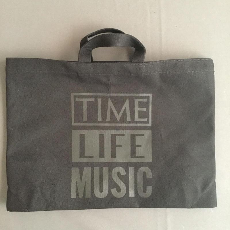 "DRESSSEN DTBC21  TOTE BAG DRESSSEN  "" TIME LIFE MUSIC  "" BLACK COLOR※次回入荷未定です。よろしくお願い申し上げます。"