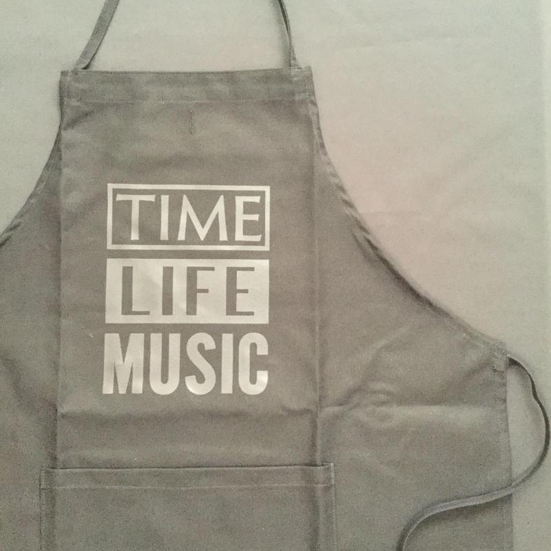"""[新色] DRESSSEN  ADULT APRON   DB(BLK)4 """"TIME LIFE MUSIC """"BLACK COLOR"""