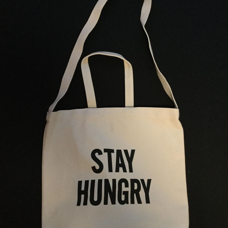 """DRESSSEN  DBSH8 TWO WAY BAG""""STAY   HUNGRY"""