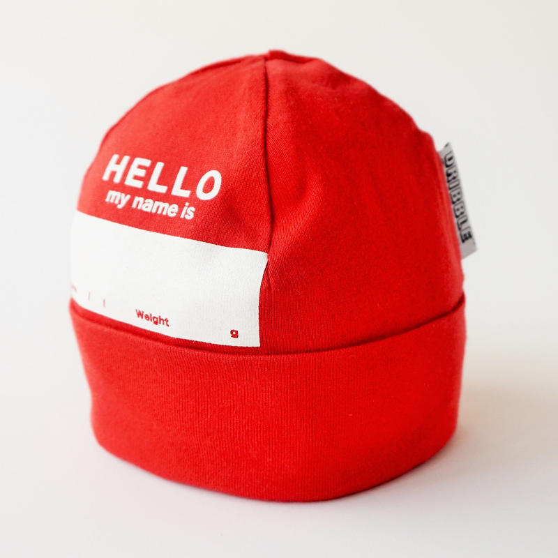 """DRIBBLE """"HELLO MY NAME IS"""" ビーニー / RED"""