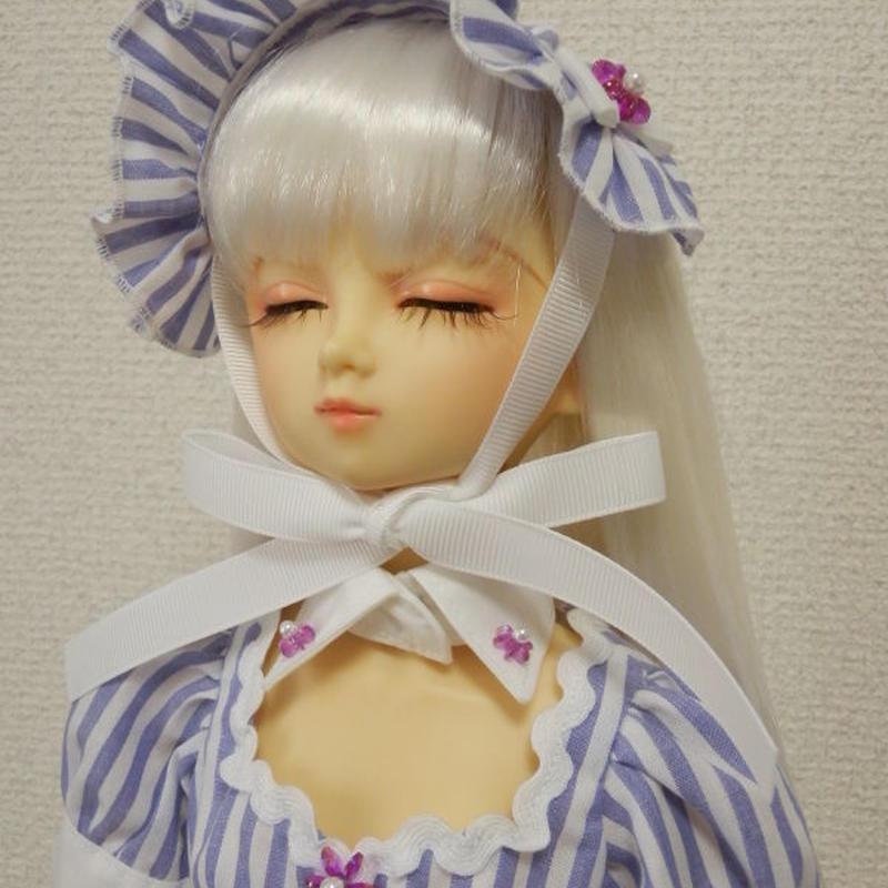 【SD/SD13】ストライプワンピースセット ホワイト