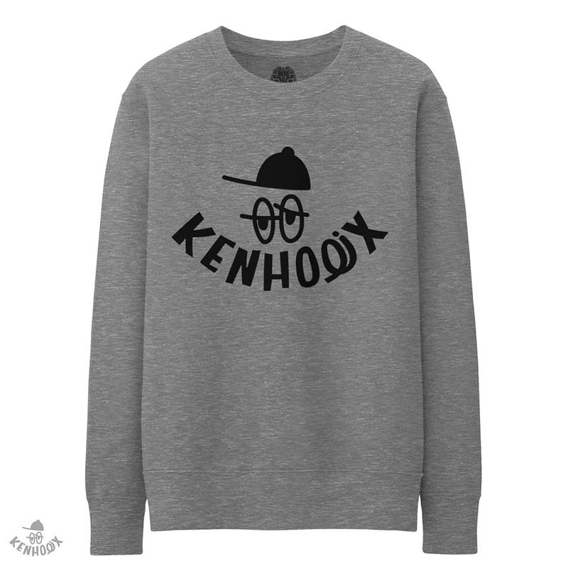 WHT Label Logo Sweatshirt -Gray-