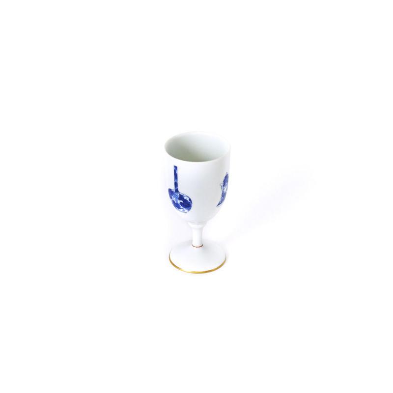 深川製磁 ブルーチャイナワインカップ