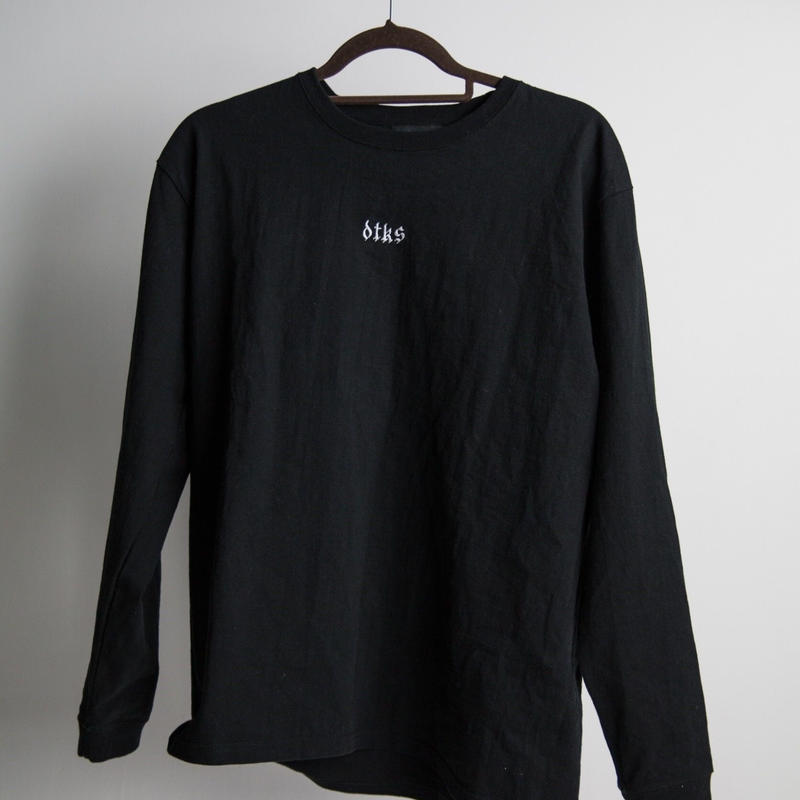 Logo Long Sleeve Tshirt  Black