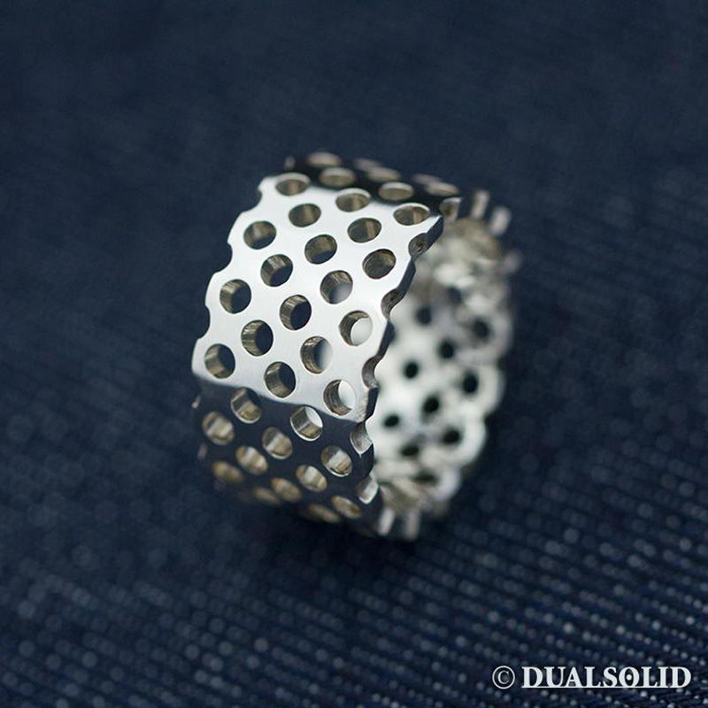 Punching Silver ring