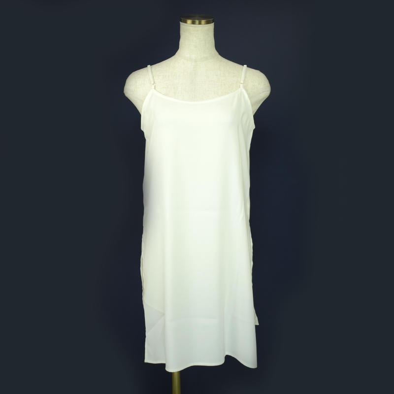 QUARTER FLASH ロング丈キャミソール〔1690303〕(White)