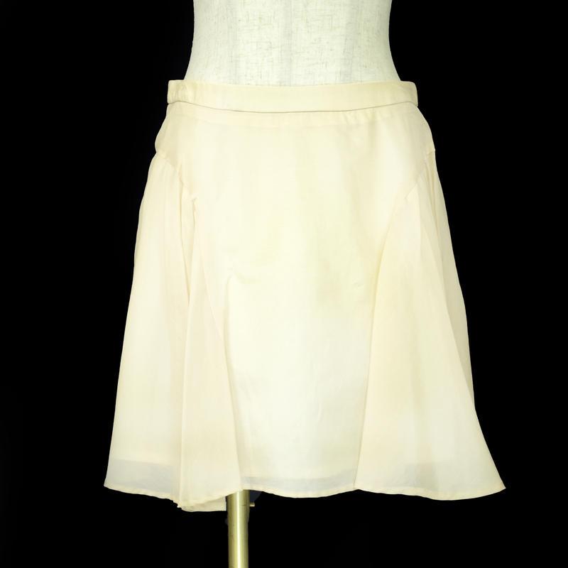 QUARTER FLASH ミニフレアースカート〔1305298〕(Ivory)