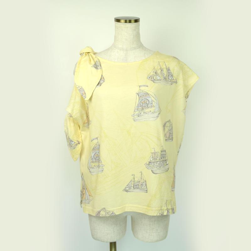 doll up oops ヨットプリント リボンショルダー Tシャツ〔60337〕(38)