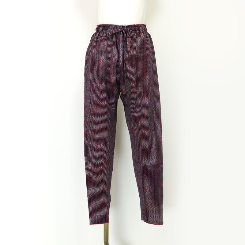 goto asato Special Slim Trousers〔HP-TR06Z〕(紫の水面柄&黒の縞)