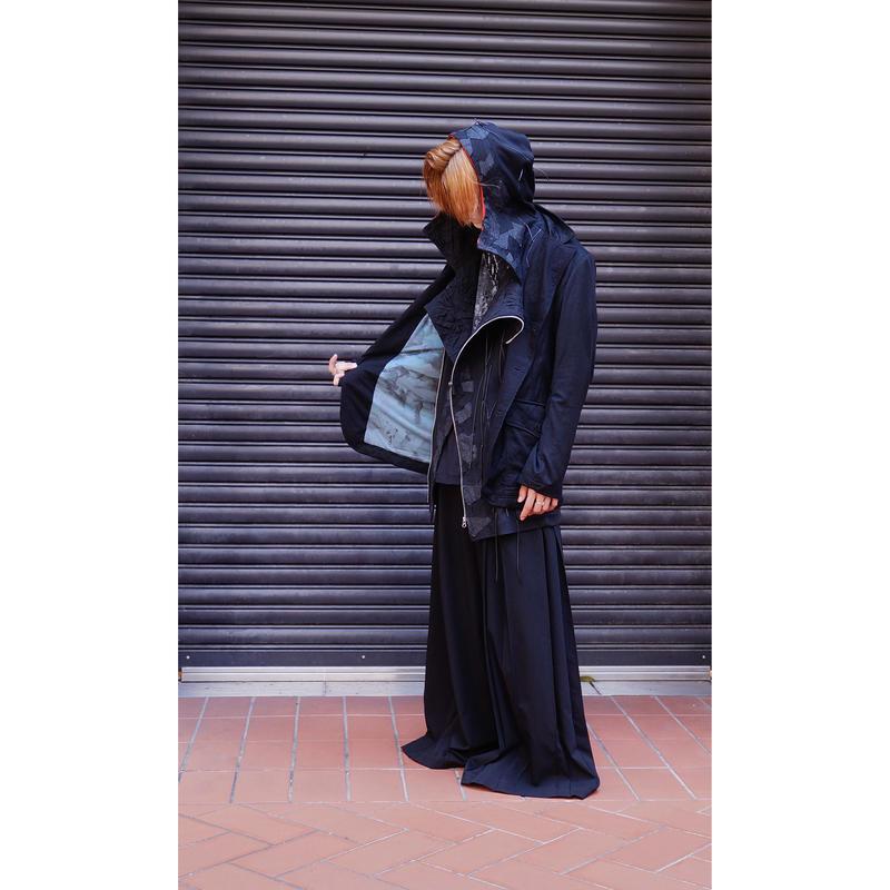 Kohshin Satoh 一点もの ステッチ装飾 テーラードジャケット メンズ〔CT-030-1〕