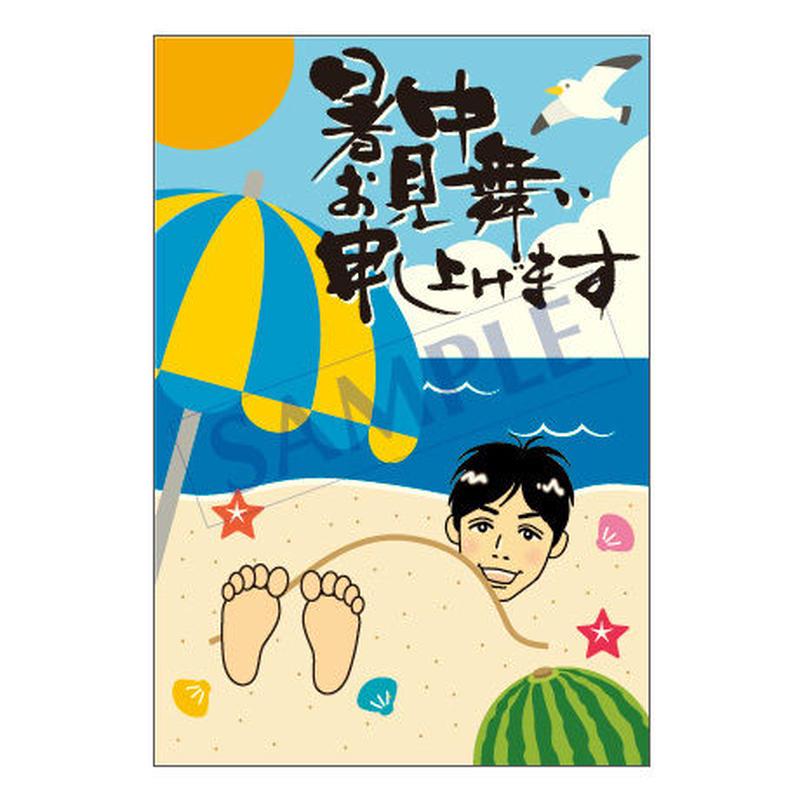 メッセージカード/季節の便り/14-0722(似顔絵ver)/1セット(10枚)