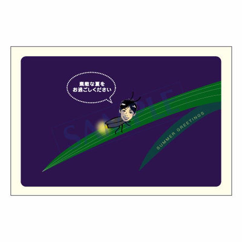 メッセージカード/季節の便り/08-0343(似顔絵ver)/1セット(10枚)