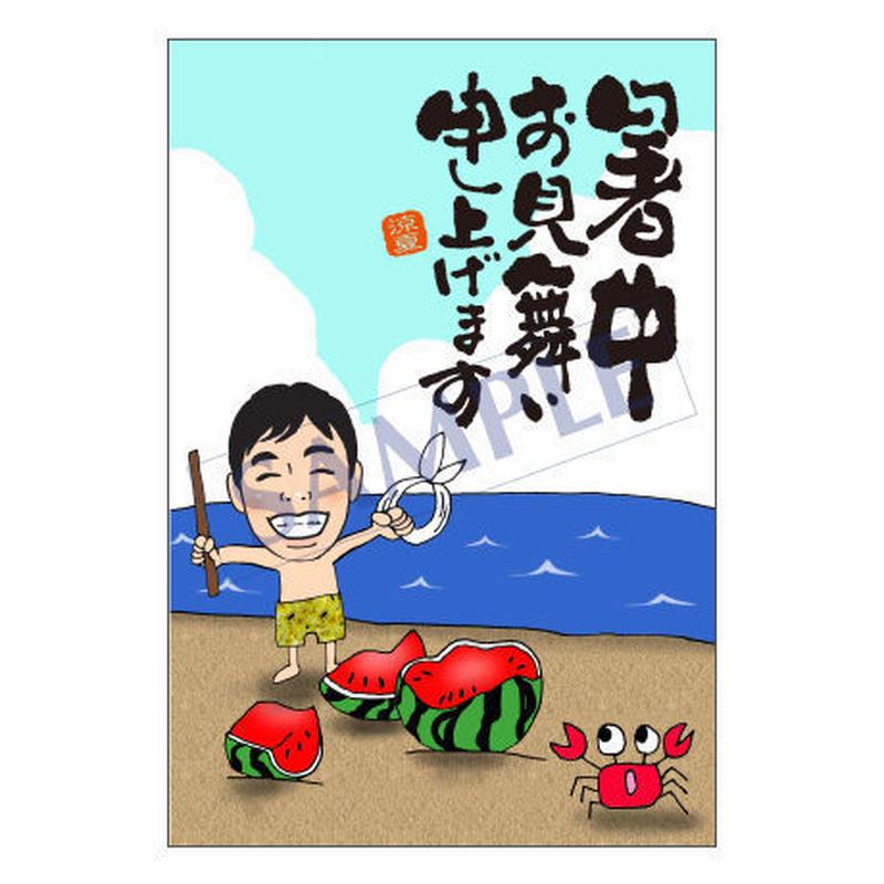 メッセージカード 季節の便り 16-0767(似顔絵ver) 1セット(10枚)